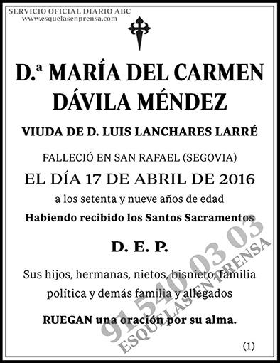 María del Carmen Dávila Méndez